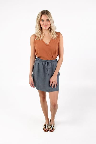 Side Button Skirt, Bella Dahl, e.Allen, Nashville, Franklin, Murfreesboro