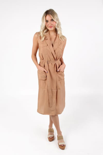 Brekhna Drape in Blushed Tan, French Connection, e.Allen, Nashville, Franklin, Murfreesboro