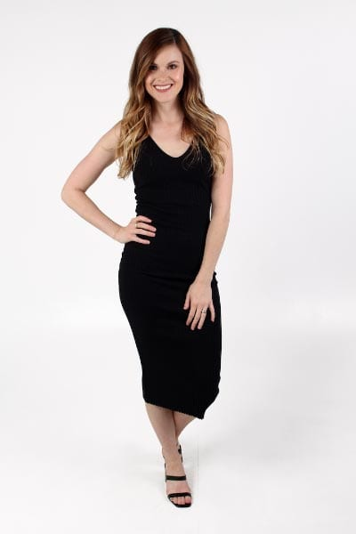 Black Fitted Midi Dress Enza Costa e.Allen Nashville Murfreesboro franklin