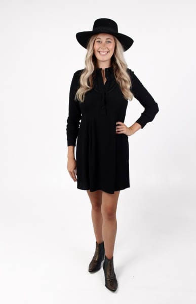 Collared Dress in Black e.Allen Nashville Murfreesboro Franklin