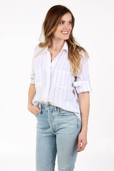 Fray Placket Shirt Bella Dahl e.Allen Nashville Murfreesboro Franklin