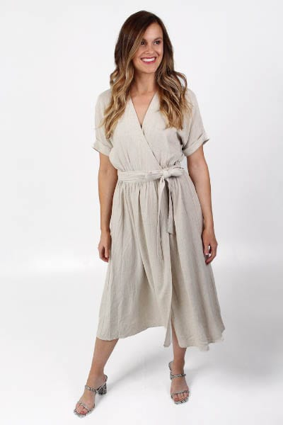 Helen Dress in Sand e.Allen Nashville Murfreesboro Franklin