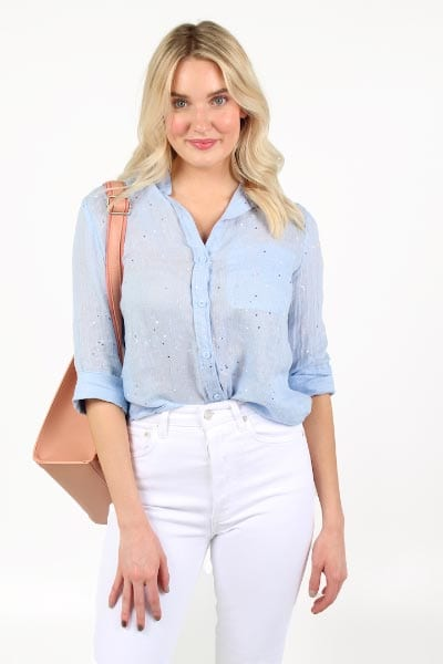 Inside Pocket Dotted Button Down Bella Dahl e.allen Nashville Murfreesboro Franklin