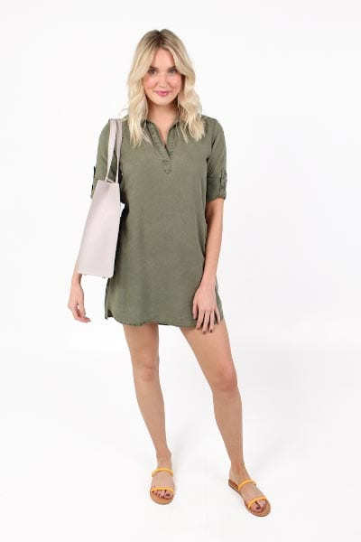 LS Aline Shift Dress Bella Dahl e.Allen Nashville Murfreesboro Franklin