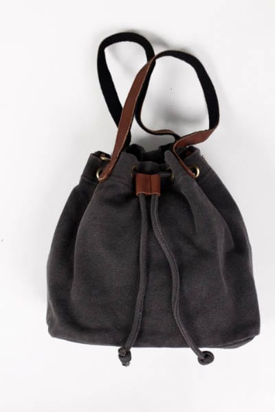 Black Drawstring Canvas Bag e.Allen Nashville Murfreesboro Franklin