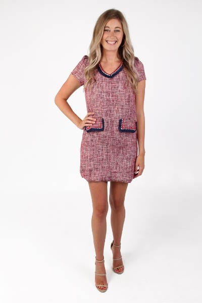 Trimmed Edge Sheath Dress e.Allen Nashville Murfreesboro Franklin