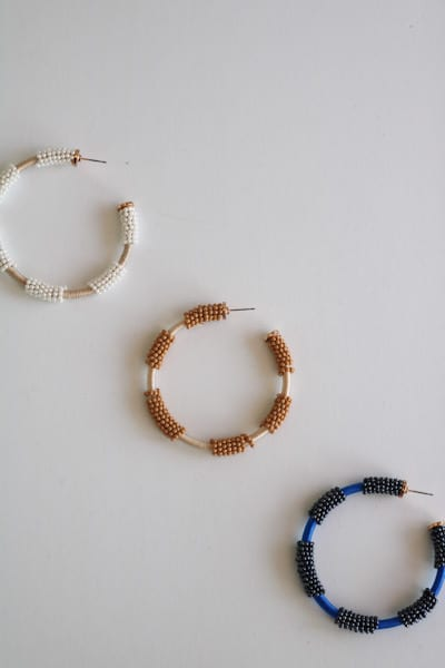 Beaded Hoops, e.Allen, Nashville, Franklin, Murfreesboro