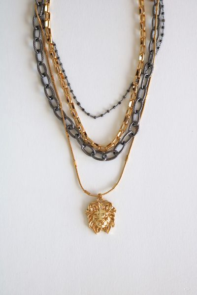 Anaid Gold Lion Necklace, Melania Clara, e.Allen, Nashville, Franklin, Murfreesboro