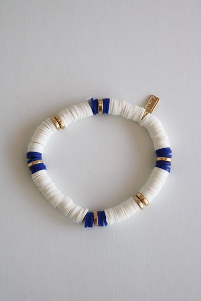 White and Navy Bracelet, e.Allen, Nashville, franklin, Murfreesboro