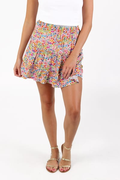 Devon Mini Skirt Rainbow Fields, Show Me Your Mumu, e.Allen, Nashville, Franklin, Murfreesboro