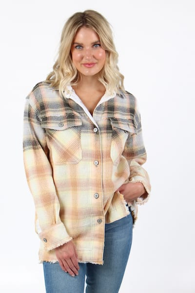 Anneli Plaid Shirt Jacket, Free People, e.Allen, Nashville, Franklin, Murfreesboro