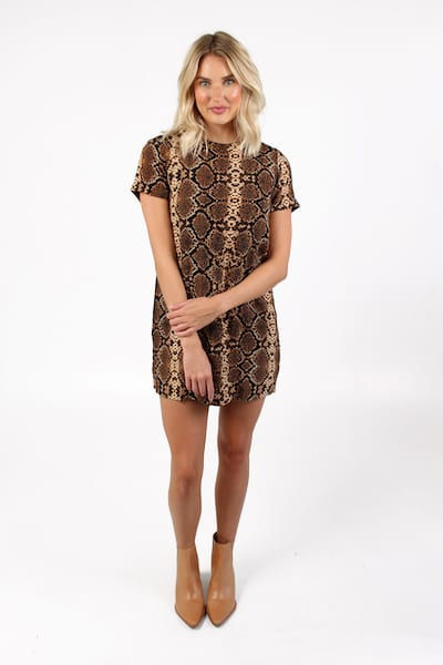 Snake Zip Back Shift Dress, e.Allen, Nashville, Franklin, Murfreesboro