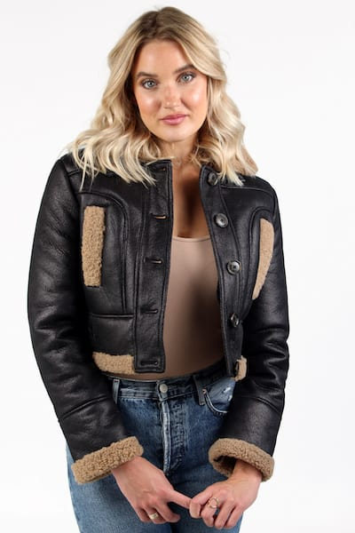 Belen Fuz Fur in Black Brown, French Connection, e.Allen, Nashville, Franklin, Murfreesboro