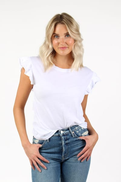Kelly TShirt in White, Sundays, e.Allen, Nashville, franklin, Murfreesboro