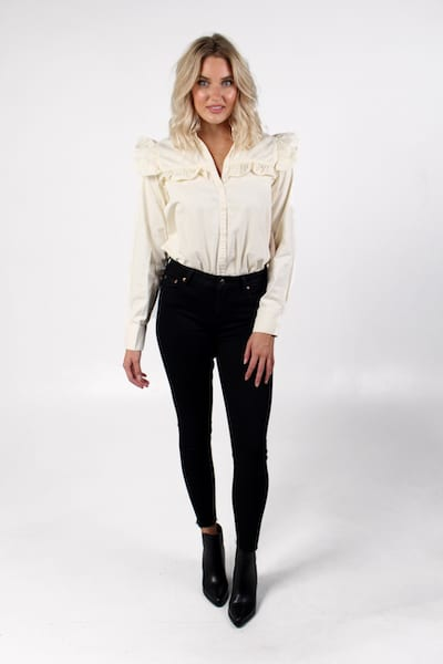 Samantha Blouse in Ecru, Free People, e.Allen, Nashville, Franklin, Murfreesboro