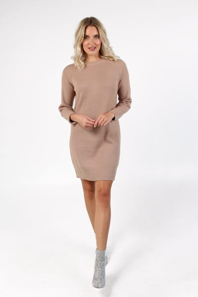 Taupe Crewneck Sweater Dress, e.Allen, Nashville, Franklin, Murfreesboro