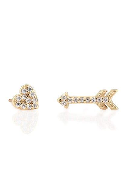 Heart and Arrow Pave Stud Earring, Kris Nations, e.Allen, Nashville, Franklin, Murfreesboro