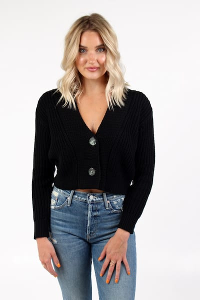 Wide Placket Short Cardigan, 525 America, e.Allen, Nashville, Franklin, Murfreesboro
