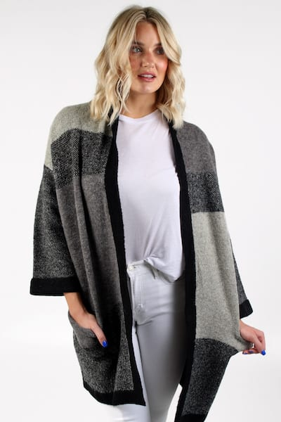 Chasity Coat in Grey Combo, Love Token, e.Allen, Nashville, Franklin, Murfreesboro