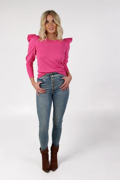 Plum Sweater in Shocking Pink, Sundays, e.Allen, Nashville, franklin, Murfreesboro