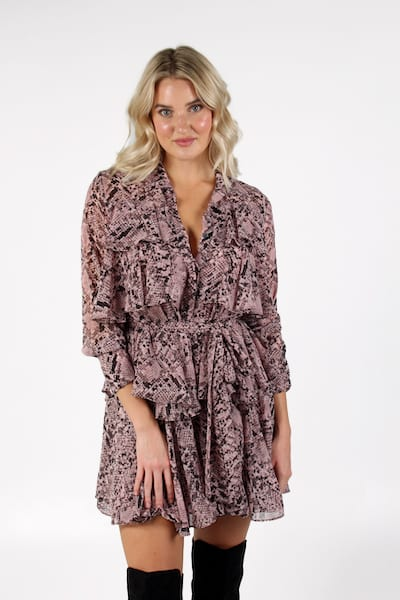 Roberta Dress in Snake, Misa, e.Allen, Nashville, Franklin, Murfreesboro
