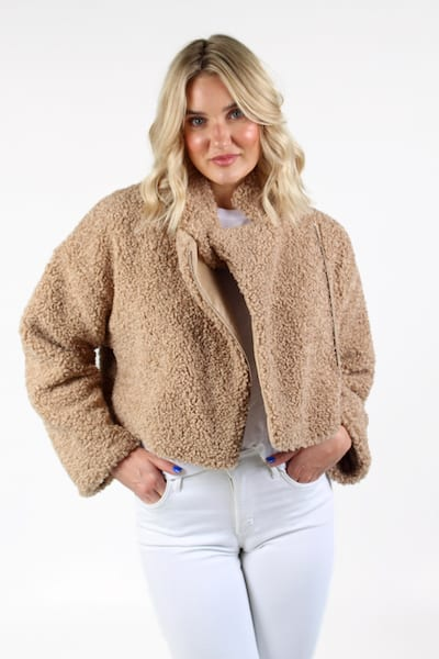 Iren Faux Fur in Camel, French Connection, e.Allen, Nashville, franklin, Murfreesboro
