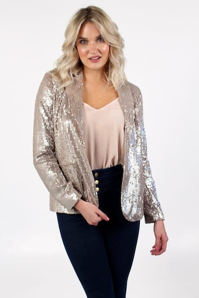Alindava Sequin Blazer, French Connection, e.Allen, Nashville, Franklin, Murfreesboro