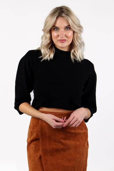Cropped Volume Sleeve Top, 525 America, e.Allen, Nashville, franklin, Murfreesboro
