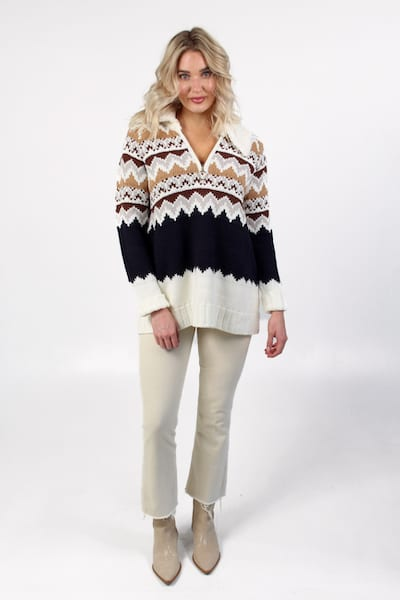 Sun Valley Pullover Fair Isle, Show Me Your Mumu, e.Allen, Nashville, Franklin, Murfreesboro