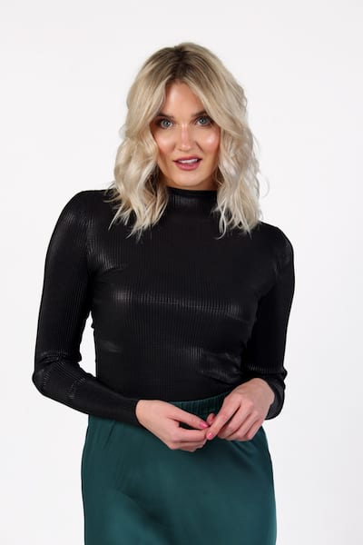 Taina Metallic Jersey Top, French Connection, e.Allen, Nashville, Franklin, Murfreesboro