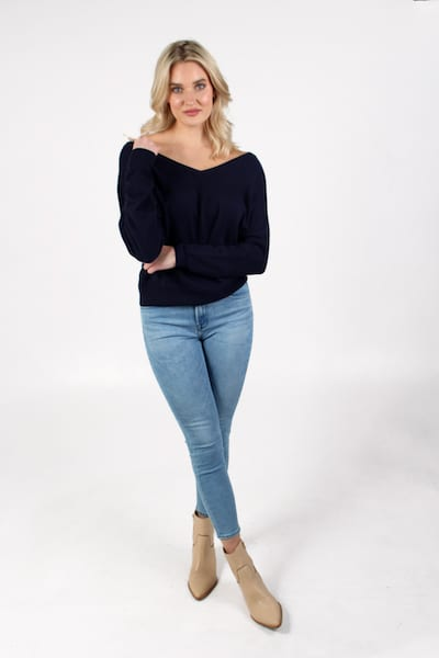Button Back Dolman in Navy, Autumn Cashmere, e.Allen, Nashville, Franklin, Murfreesboro