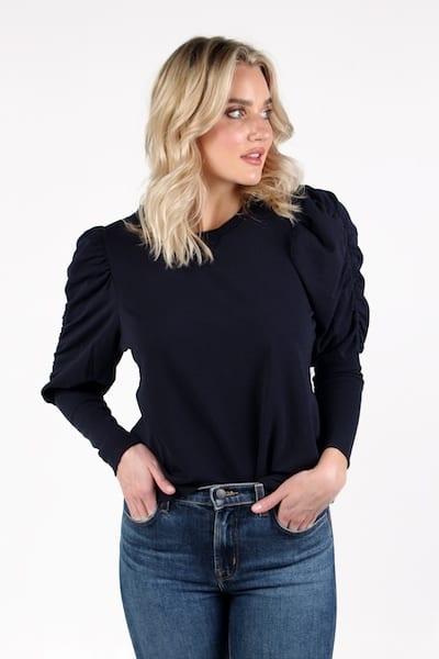 Lia Top in Navy, Sundays, e.Allen, Nashville, Franklin, Murfreesboro