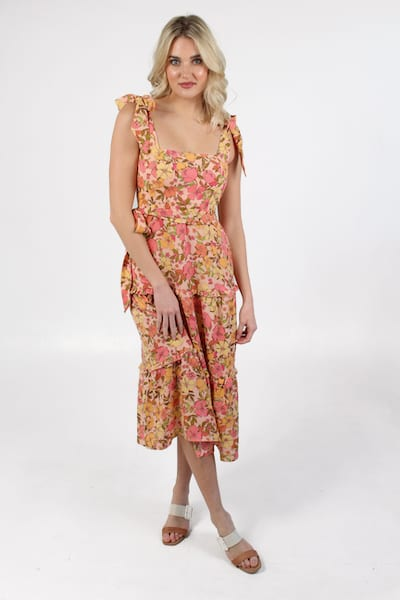 Toluca Midi Dress Pretty Poppy, Show Me Your Mumu, e.Allen, Nashville, Franklin, Murfreesboro