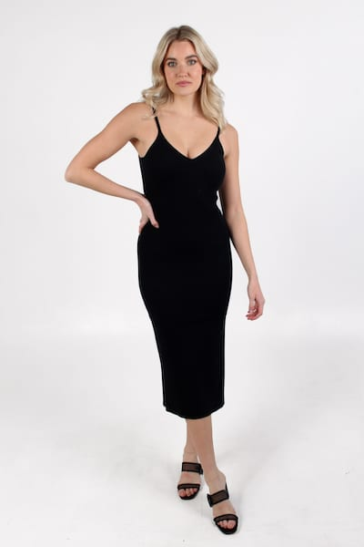 Lenny V Neck Strappy Dress, French Connection, e.Allen, Nashville, Franklin, Murfreesboro