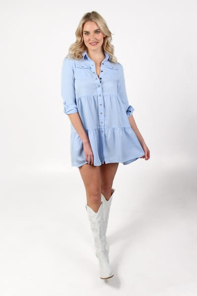 The Jules Dress in Light Blue, The Shirt, e.Allen, Nashville, Franklin, Murfreesboro