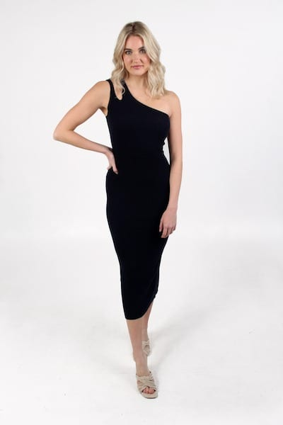 Slash One Shoulder Rib Midi, Autumn Cashmere, e.Allen, nashville, franklin, murfreesboro