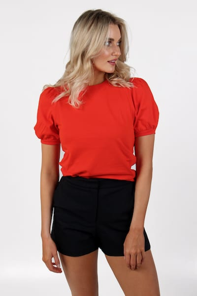 Jersey Puff Sleeve Tee, French Connection, e.Allen, Nashville, Franklin, Murfreesboro
