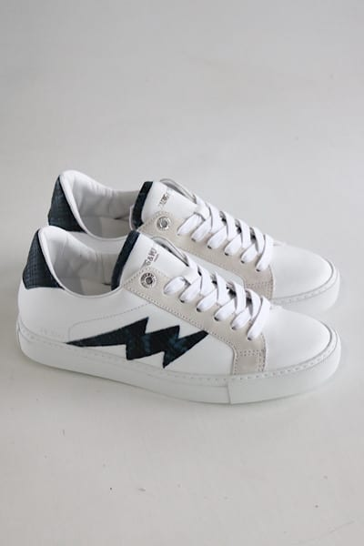 Wild and Smooth Calfskin Sneakers, Zadig and Voltaire, e.Allen, Nashville, Franklin, Murfreesboro