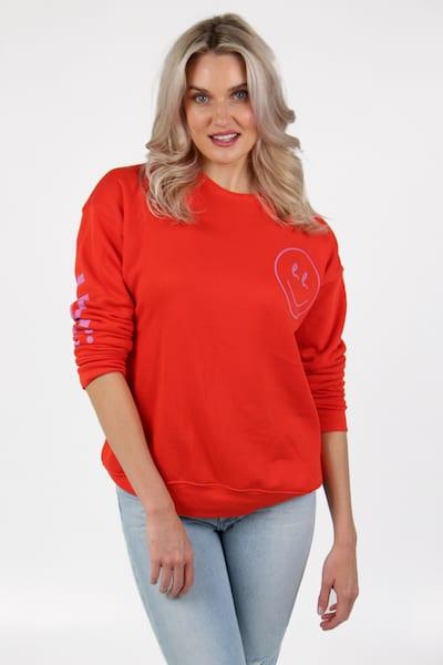 Poppy Smile. Sweatshirt, e.Allen, Nashville, Franklin, Murfreesboro