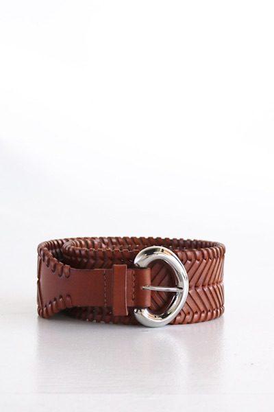 Woven Leather Belt in Cognac, Cleobella, e.Allen, nashville, Franklin, Murfreesboro
