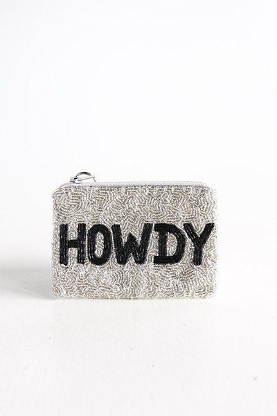 Howdy Coin Purse Silver/Black, e.Allen, Nashville, Franklin, Murfreesboro