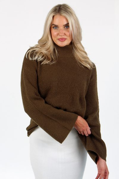 Flossy High Neck Bell Sleeve Jumper, French Connection, e.Allen, Nashville, Franklin, Murfreesboro