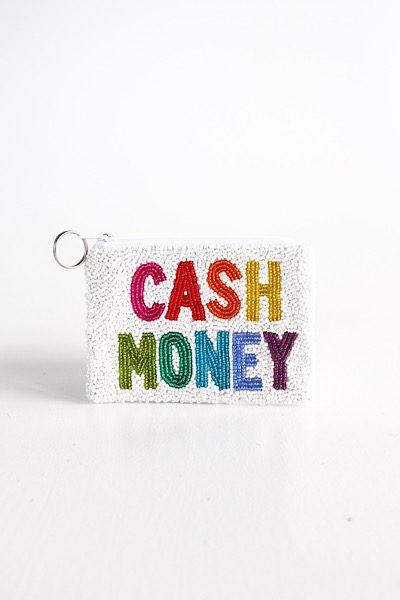 Cash Money Coin Purse White Multi, e.Allen, Nashville, Franklin, Murfreesboro