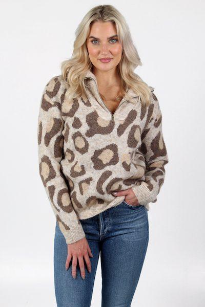 Leopard Half Zip , e.Allen, Nashville, Franklin, Murfreesboro