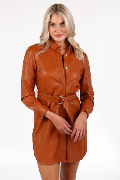 Patti Leather Shirt Dress, French Connection, e.Allen, Nashville, Franklin, Murfreesboro