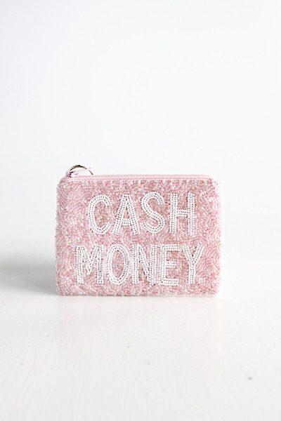 Cash Money Coin Purse Light Pink/White, e.Allen ,Nashville, Franklin, Murfreesboro