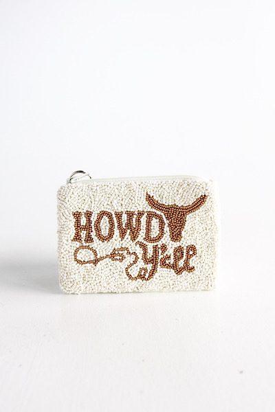 Howdy Y'all Coin Purse, e.Allen, Nashville, Franklin, Murfreesboro