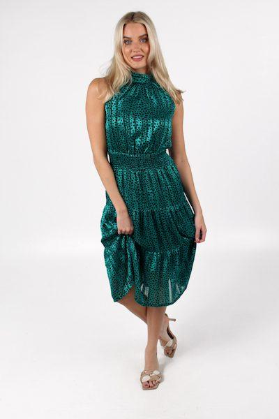 Carrie Dress in Green, e.Allen, Nashville, Franklin, Murfreesboro