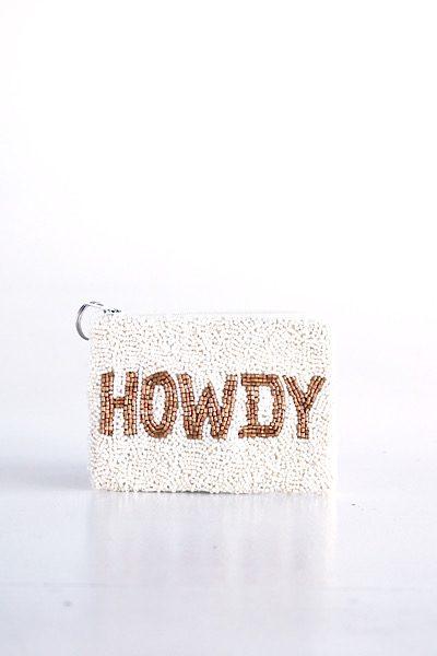 Howdy Coin Purse Ivory Bronze, e.Allen, Nashville, franklin, Murfreesboro