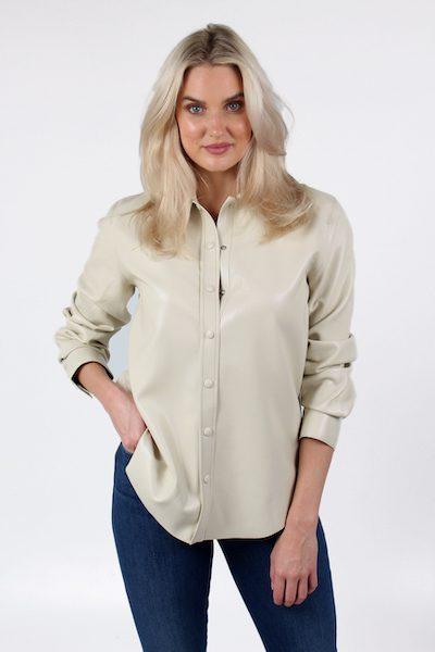 Calla Vegan Leather Shirt, Agolde, e.Allen, Nashville, Franklin, Murfreesboro